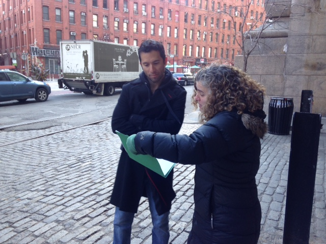 Carman Lacivita and Jessica Bauman on location